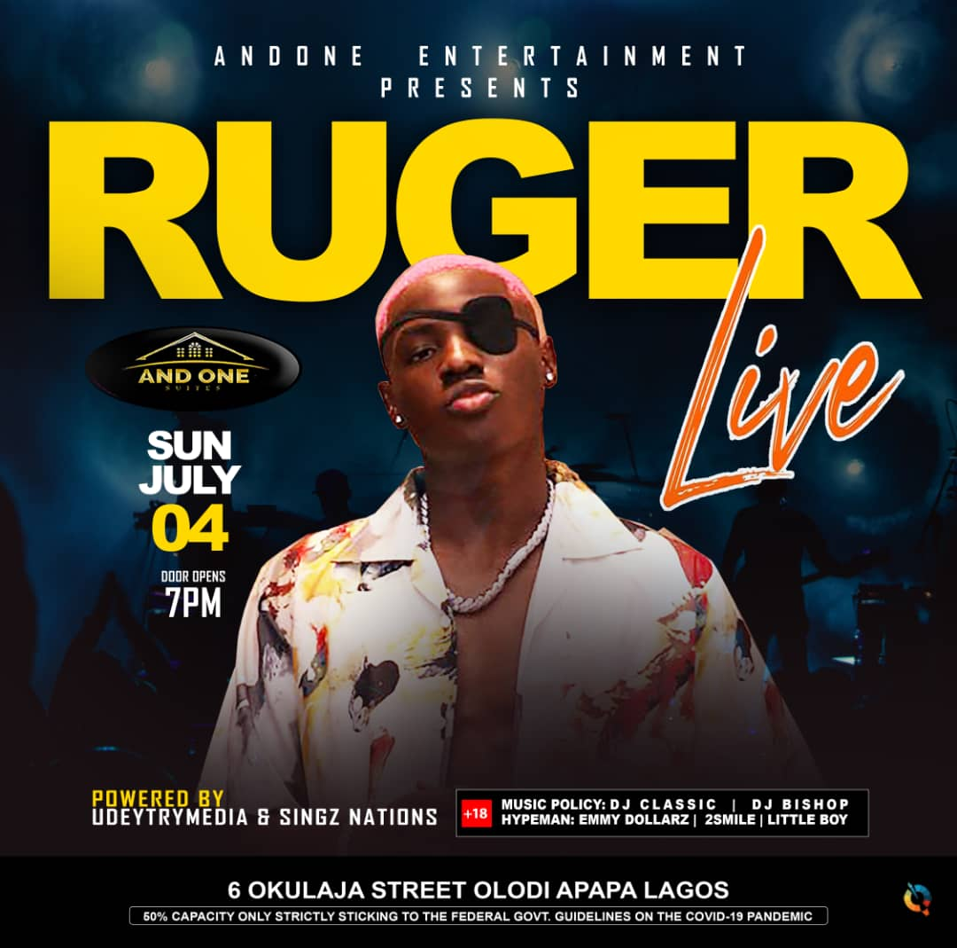 """And One Ent and Udeytrymedia present """" RUGER LIVE"""""""